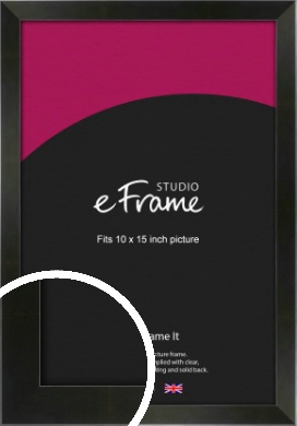 On Trend Linear Black Picture Frame, 10x15