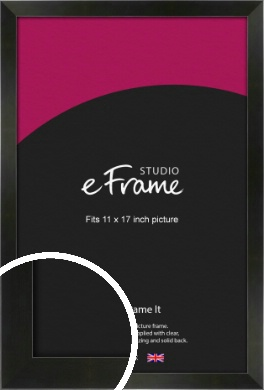 On Trend Linear Black Picture Frame, 11x17
