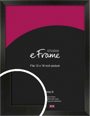 On Trend Linear Black Picture Frame, 12x16