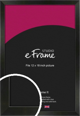 On Trend Linear Black Picture Frame, 12x18