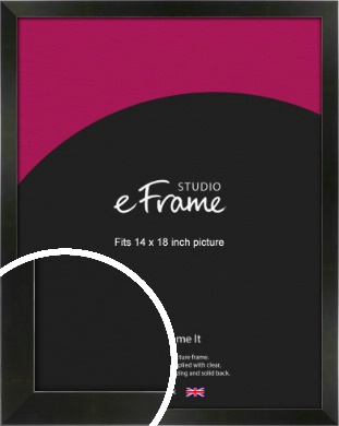 On Trend Linear Black Picture Frame, 14x18