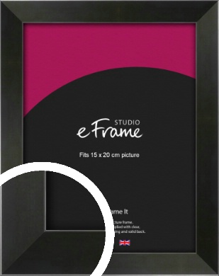 On Trend Linear Black Picture Frame, 15x20cm (6x8
