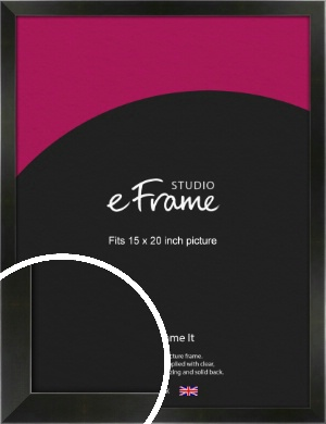 On Trend Linear Black Picture Frame, 15x20