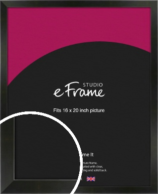 On Trend Linear Black Picture Frame, 16x20
