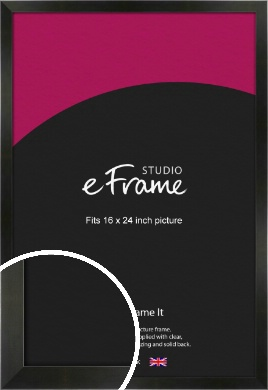 On Trend Linear Black Picture Frame, 16x24