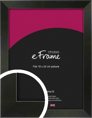 On Trend Linear Black Picture Frame, 18x24cm (VRMP-219-18x24cm)