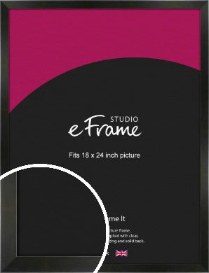 On Trend Linear Black Picture Frame, 18x24