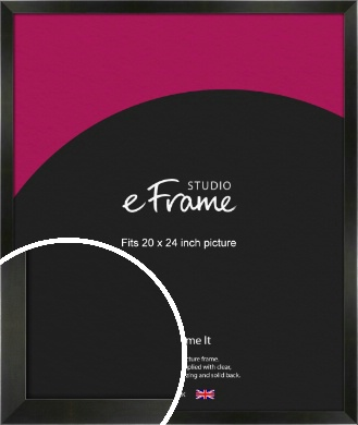 On Trend Linear Black Picture Frame, 20x24