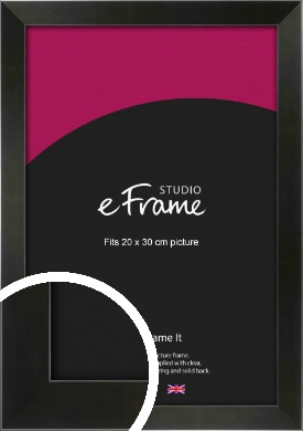 On Trend Linear Black Picture Frame, 20x30cm (8x12