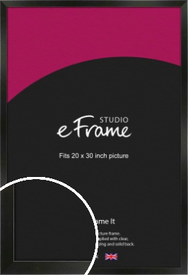 On Trend Linear Black Picture Frame, 20x30