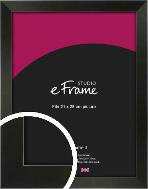 On Trend Linear Black Picture Frame, 21x28cm (VRMP-219-21x28cm)