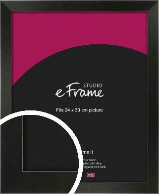 On Trend Linear Black Picture Frame, 24x30cm (VRMP-219-24x30cm)