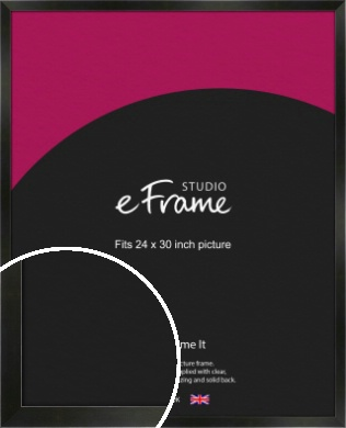 On Trend Linear Black Picture Frame, 24x30
