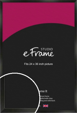 On Trend Linear Black Picture Frame, 24x36