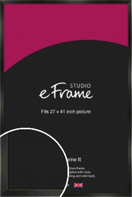 On Trend Linear Black Picture Frame, 27x41