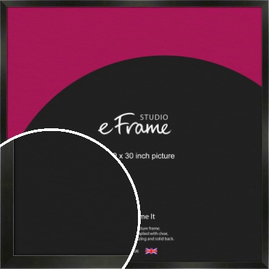 On Trend Linear Black Picture Frame, 30x30