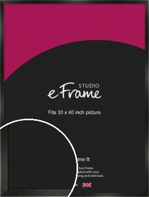 On Trend Linear Black Picture Frame, 30x40