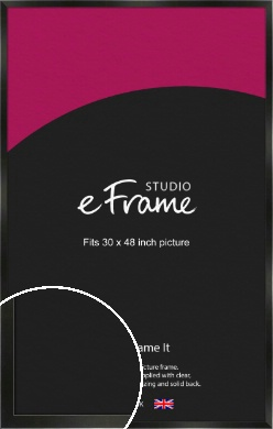 On Trend Linear Black Picture Frame, 30x48