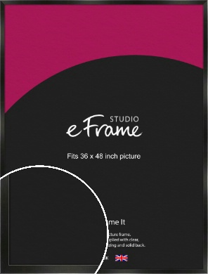 On Trend Linear Black Picture Frame, 36x48
