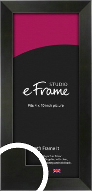 On Trend Linear Black Picture Frame, 4x10