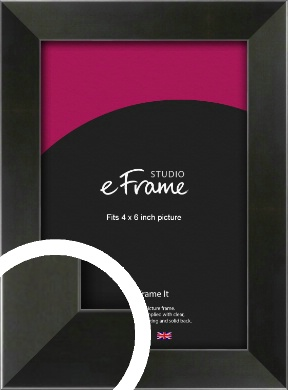 On Trend Linear Black Picture Frame, 4x6
