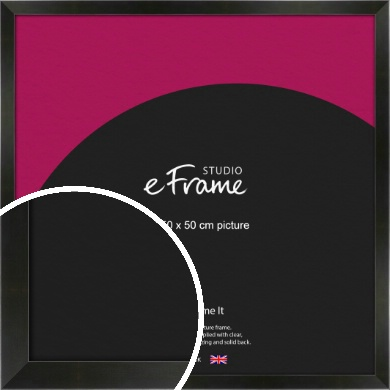 On Trend Linear Black Picture Frame, 50x50cm (VRMP-219-50x50cm)