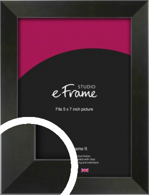 On Trend Linear Black Picture Frame, 5x7