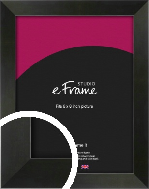 On Trend Linear Black Picture Frame, 6x8