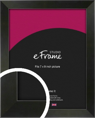 On Trend Linear Black Picture Frame, 7x9