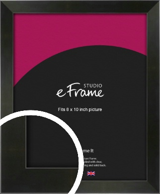 On Trend Linear Black Picture Frame, 8x10