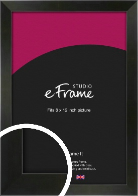 On Trend Linear Black Picture Frame, 8x12