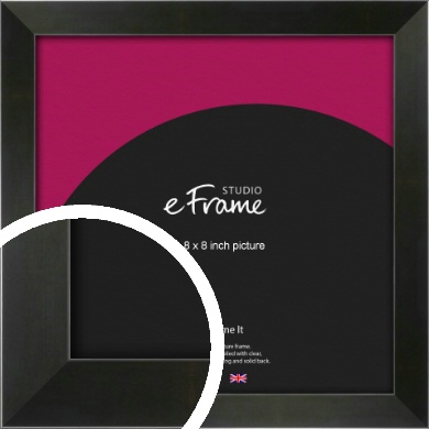 On Trend Linear Black Picture Frame, 8x8