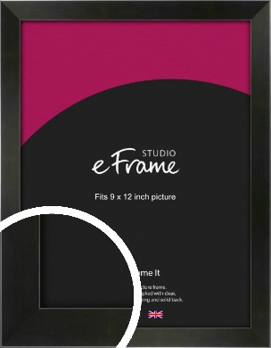 On Trend Linear Black Picture Frame, 9x12