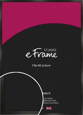 On Trend Linear Black Picture Frame, A0 (841x1189mm) (VRMP-219-A0)