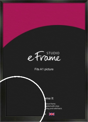 On Trend Linear Black Picture Frame, A1 (594x841mm) (VRMP-219-A1)
