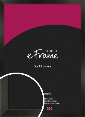 On Trend Linear Black Picture Frame, A2 (420x594mm) (VRMP-219-A2)