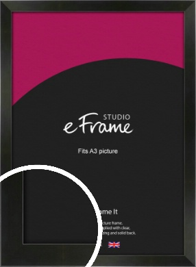 On Trend Linear Black Picture Frame, A3 (297x420mm) (VRMP-219-A3)