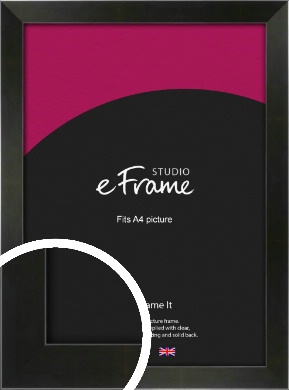 On Trend Linear Black Picture Frame, A4 (210x297mm) (VRMP-219-A4)