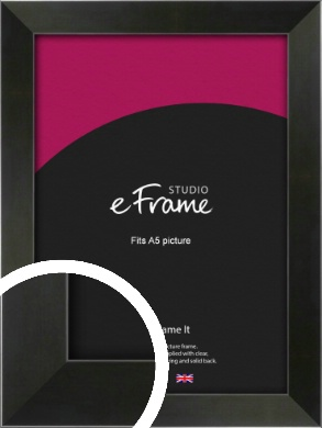 On Trend Linear Black Picture Frame, A5 (148x210mm) (VRMP-219-A5)