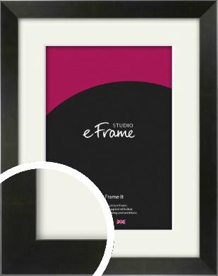 On Trend Linear Black Picture Frame & Mount (VRMP-219-M)