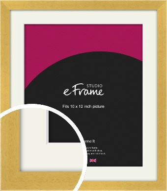 Scandi Natural Wood Picture Frame & Mount, 10x12