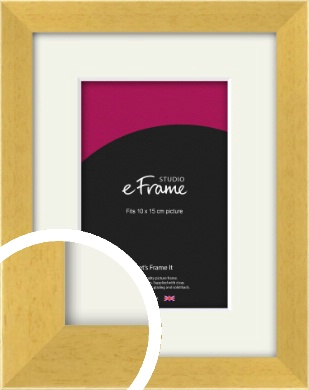 Scandi Natural Wood Picture Frame & Mount, 10x15cm (4x6