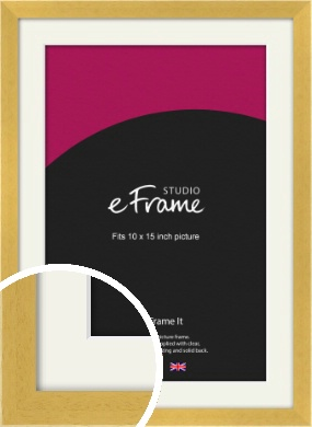 Scandi Natural Wood Picture Frame & Mount, 10x15