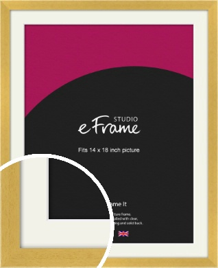 Scandi Natural Wood Picture Frame & Mount, 14x18