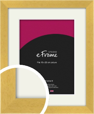 Scandi Natural Wood Picture Frame & Mount, 15x20cm (6x8