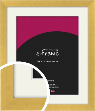 Scandi Natural Wood Picture Frame & Mount, 20x25cm (8x10