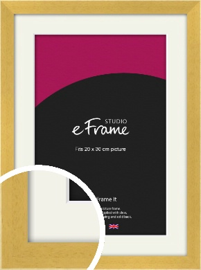 Scandi Natural Wood Picture Frame & Mount, 20x30cm (8x12