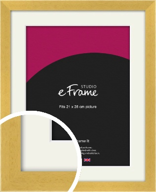 Scandi Natural Wood Picture Frame & Mount, 21x28cm (VRMP-154-M-21x28cm)
