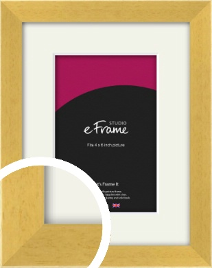 Scandi Natural Wood Picture Frame & Mount, 4x6