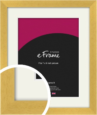 Scandi Natural Wood Picture Frame & Mount, 7x9